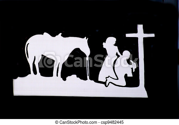Cowboy At The Cross - csp9482445