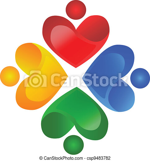 Teamwork charity logo vector - csp9483782