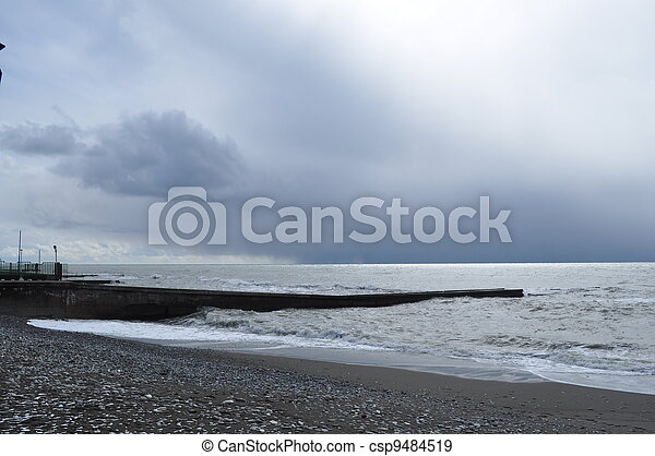 Overcast mystical Black Sea - csp9484519