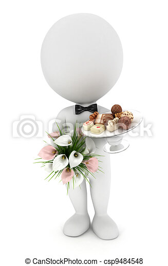 3d white people invited wedding - csp9484548