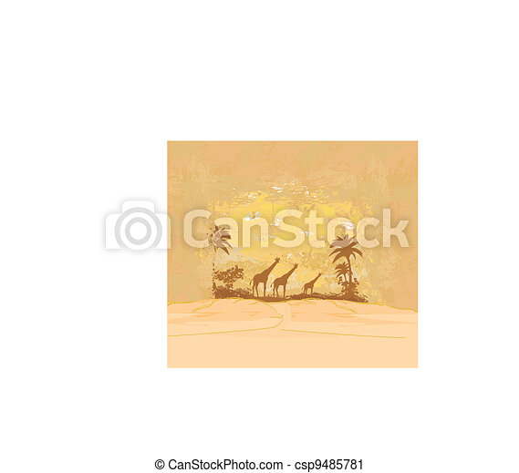 African fauna and flora - csp9485781