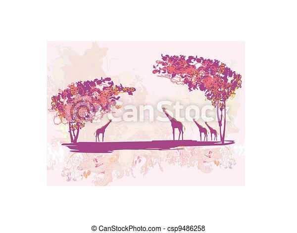 African fauna and flora - csp9486258