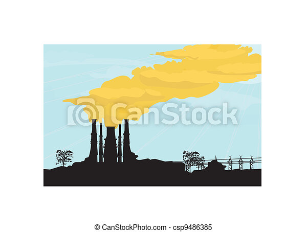 factory chimney - csp9486385