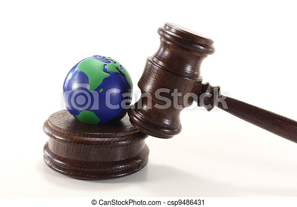 Evironmental law with globe - csp9486431