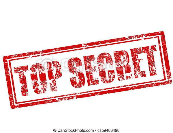 top secret stamp - csp9486498