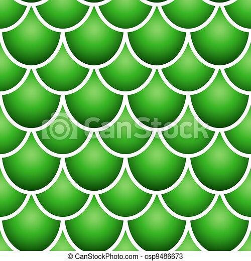 Fish Pattern Drawing Seamless Fish Scale Pattern