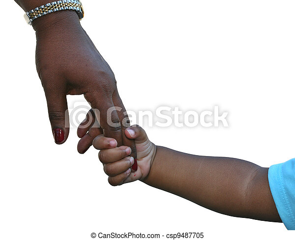 Mother and childs hands - csp9487705
