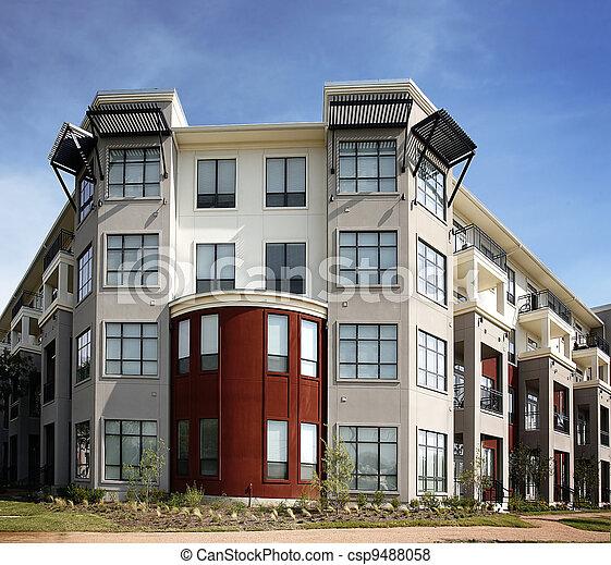 Luxury apartment (condo) building - csp9488058