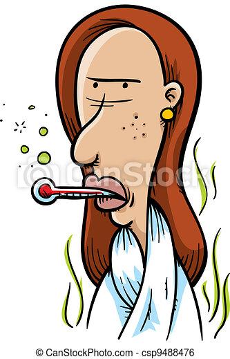 Sick Woman - csp9488476