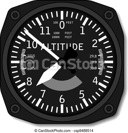vector aviation airplane altimeter - csp9488514