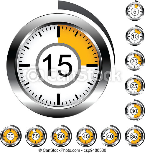 Vector chrome round timers - csp9488530