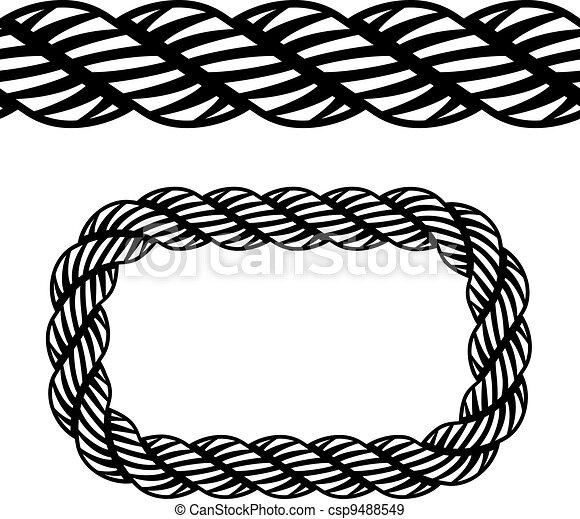 Rope Logo Vector Vector Seamless Black Rope