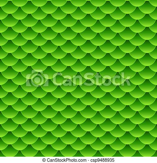Green Fish Scale Pattern Clip Art