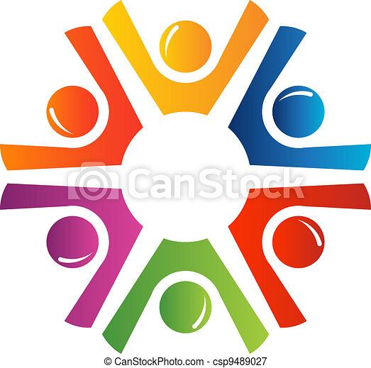 Happy teamwork - csp9489027