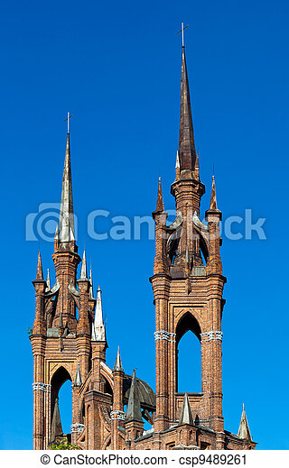 Roman-Catholic church in Samara, Russia - csp9489261