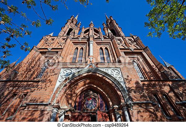 Roman-Catholic church in Samara, Russia - csp9489264