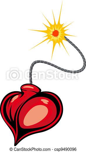 Heart bomb - csp9490096
