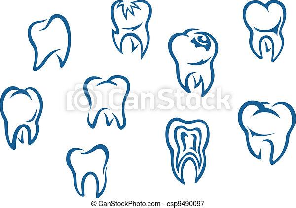 Human teeth set - csp9490097