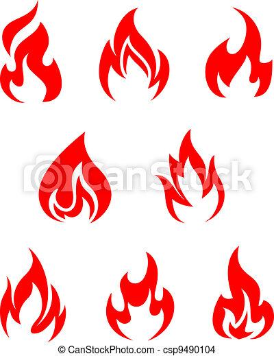 Fire flames - csp9490104