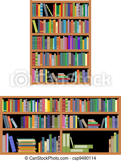Books isolated on white background for education or interior design