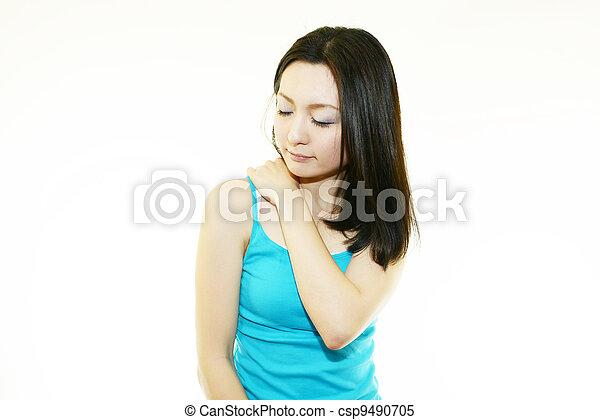 photo femme paule cou douleur image images photo libre de droits photos sous licence. Black Bedroom Furniture Sets. Home Design Ideas