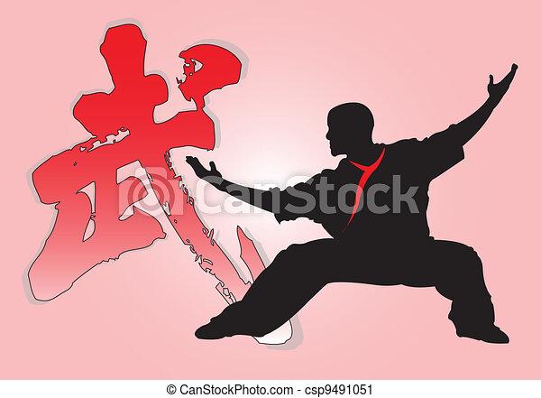 Chinese Panda Vector Chinese Kung fu Vector Clip