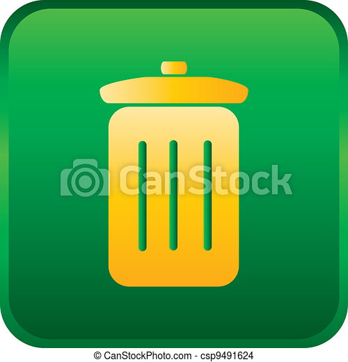 vector trash can icon - csp9491624