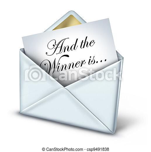 Award Winner Envelope - csp9491838