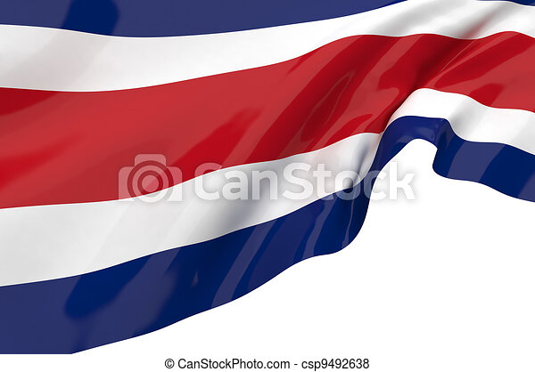 Vector Flags of Costa Rica - csp9492638