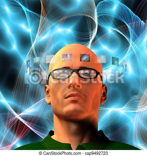 Images encircel mans head - csp9492723