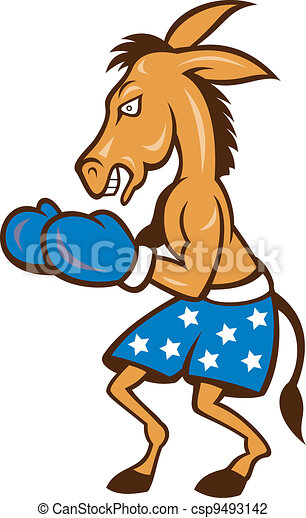 Donkey Jackass Boxing Stance - csp9493142