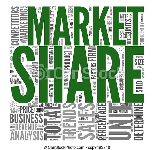 Market share concept in tag cloud - csp9493748