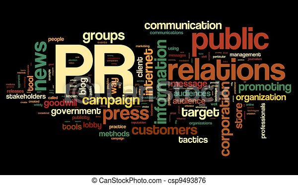 Public relations concept in tag cloud - csp9493876