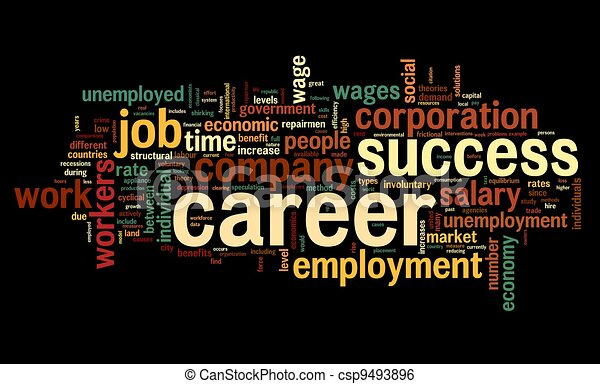 Career concept in word tag cloud - csp9493896