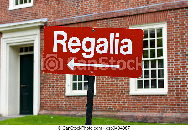 Regalia Sign at Harvard University Graduation - csp9494387