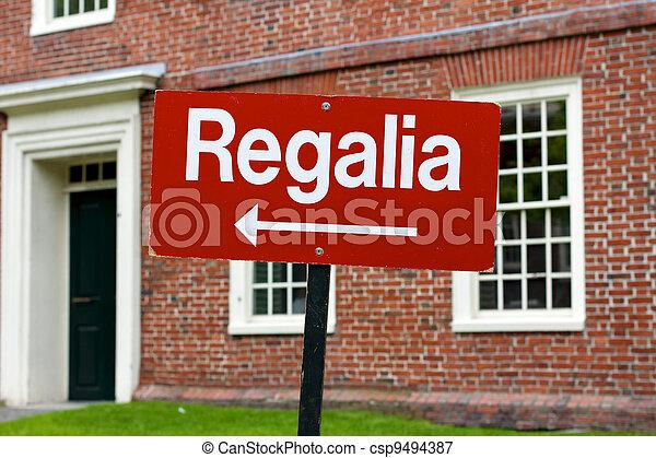 Regalia Sign at Harvard University Graduation - csp9494387
