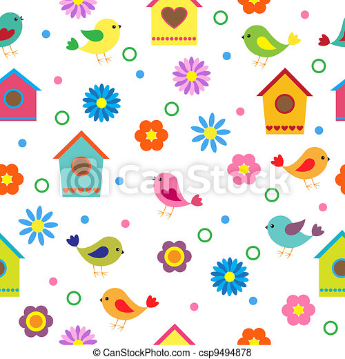 Colorful seamless pattern - csp9494878