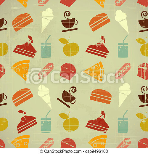 food seamless color background - csp9496108