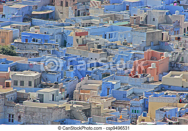 Blue Houses Of The Hindu Brahmin Ca - csp9496531