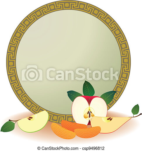frame with fruits - csp9496812