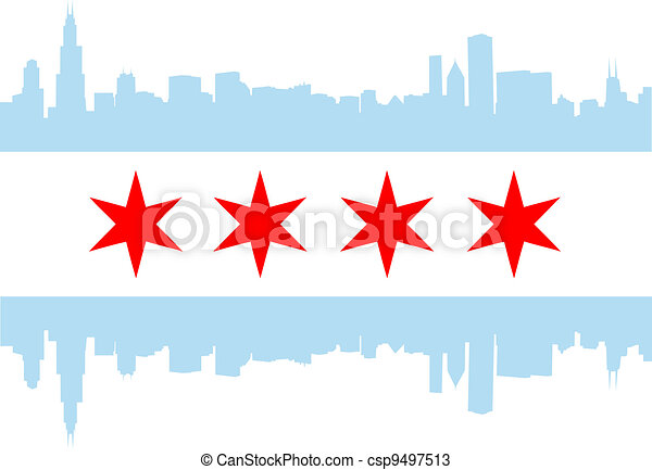 Chicago flag - csp9497513