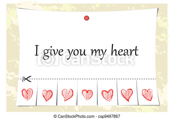 I give you my heart - csp9497867