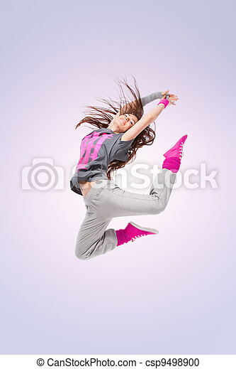 Hip-hop dancer girl - csp9498900