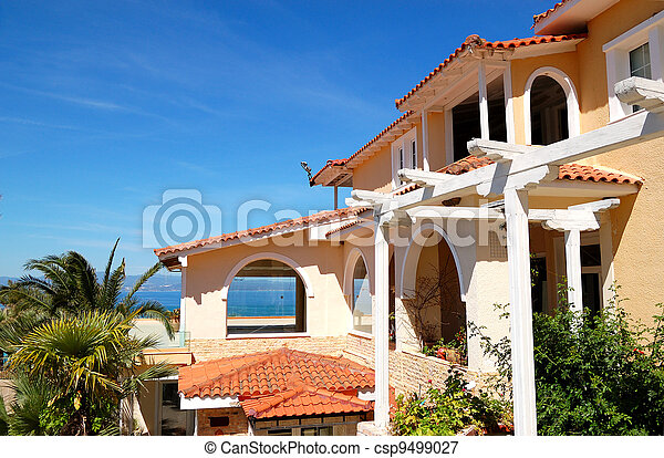 The luxury hotel exterior, Halkidiki, Greece - csp9499027