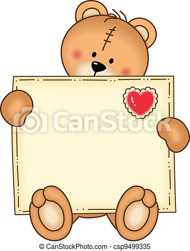 Bear Secure Envelope - csp9499335
