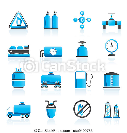 Natural gas objects and icons - csp9499738