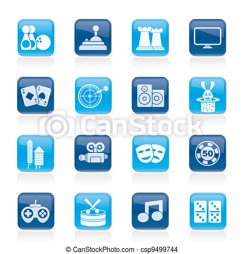 entertainment objects icons - csp9499744