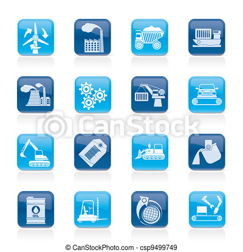 different kind of industry icons - csp9499749