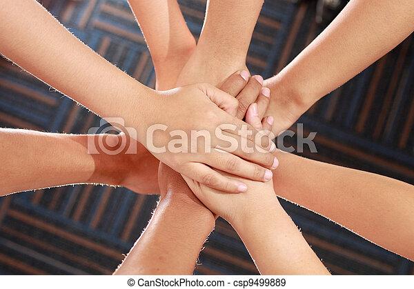 united hands - csp9499889