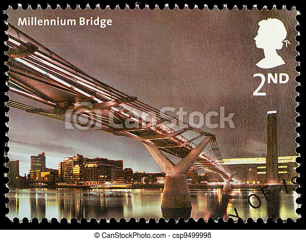Bridges of London Postage Stamp - csp9499998
